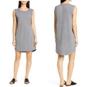 Eileen Fisher Gray Sleeveless T-Shirt Dress Size S